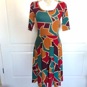 Lularoe Small Nicole dress abstract print NWT